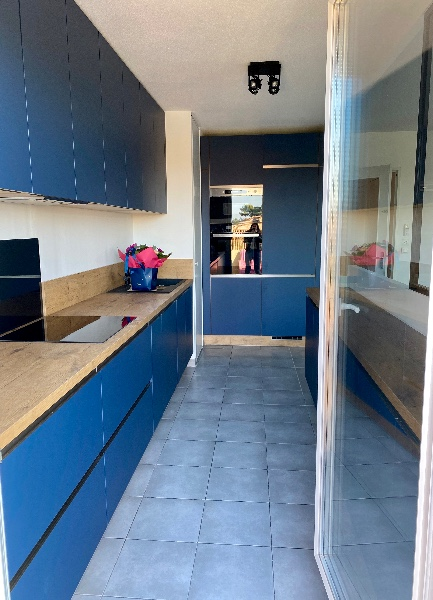 Projet de cuisine sur mesure à domicile réalisé à Marseille 13013