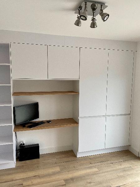 Projet d'aménagement intérieur bureau avec meubles de cuisine à Marseille